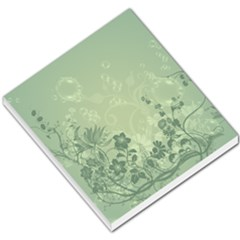 Wonderful Flowers In Soft Green Colors Small Memo Pads by FantasyWorld7