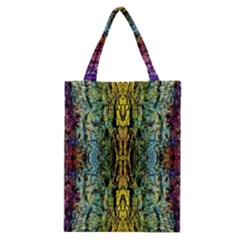Abstract, Yellow Green, Purple, Tree Trunk Classic Tote Bags by Costasonlineshop