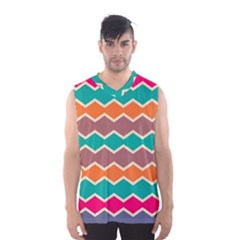 Colorful Chevrons Pattern Men s Basketball Tank Top
