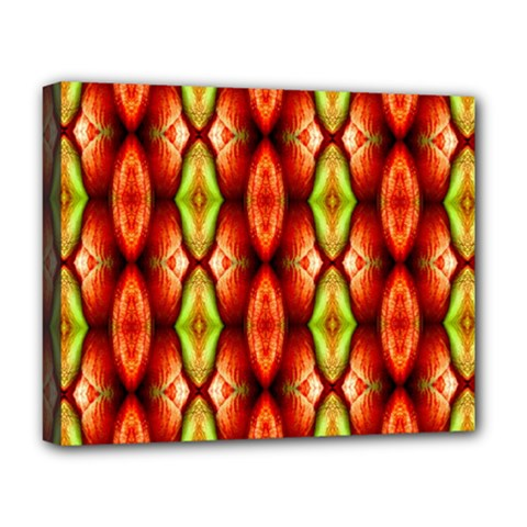Melons Pattern Abstract Deluxe Canvas 20  X 16   by Costasonlineshop
