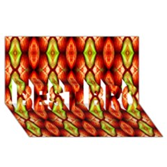 Melons Pattern Abstract Best Bro 3d Greeting Card (8x4)  by Costasonlineshop
