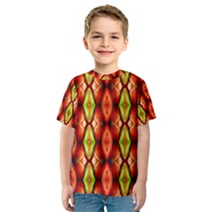 Melons Pattern Abstract Kid s Sport Mesh Tees by Costasonlineshop