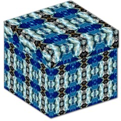 Royal Blue Abstract Pattern Storage Stool 12   by Costasonlineshop