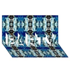 Royal Blue Abstract Pattern Party 3d Greeting Card (8x4)  by Costasonlineshop