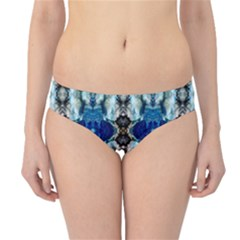 Royal Blue Abstract Pattern Hipster Bikini Bottoms by Costasonlineshop