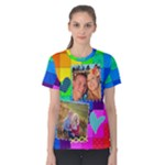 Rainbow Stitch Shirt - Women s Cotton Tee