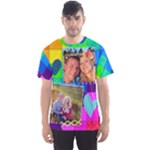 Rainbow Stitch Shirt - Men s Sports Mesh Tee
