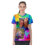 Rainbow Stitch Shirt - Women s Sport Mesh Tee