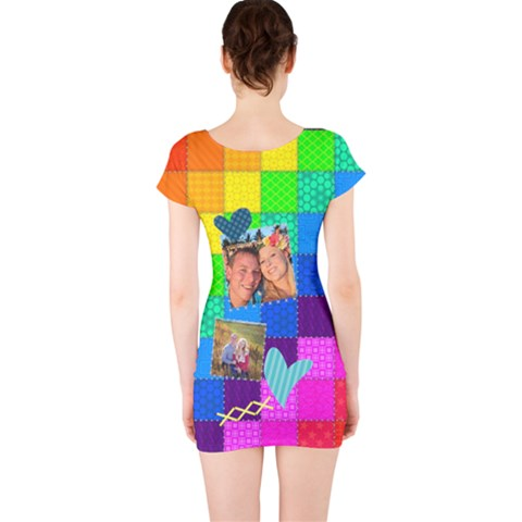 Short Sleeve Bodycon Dress Back