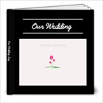 Black and White - Simple Elegance - Wedding - 8x8 Photo Book (20 pages)