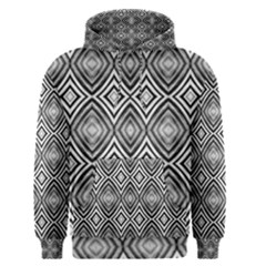 Black White Diamond Pattern Men s Pullover Hoodies by Costasonlineshop