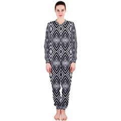 Black White Diamond Pattern Onepiece Jumpsuit (ladies)  by Costasonlineshop