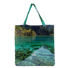 Jiuzhaigou Valley 2 Grocery Tote Bags by trendistuff