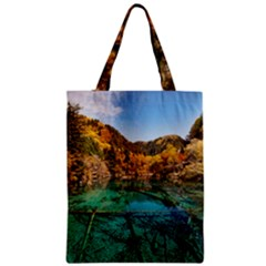 Jiuzhaigou Valley 1 Classic Tote Bags by trendistuff