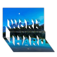 Herbert Lake Work Hard 3d Greeting Card (7x5)  by trendistuff