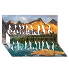 Banff National Park 4 Congrats Graduate 3d Greeting Card (8x4)  by trendistuff