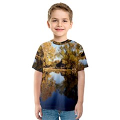 Autumn Lake Kid s Sport Mesh Tees by trendistuff