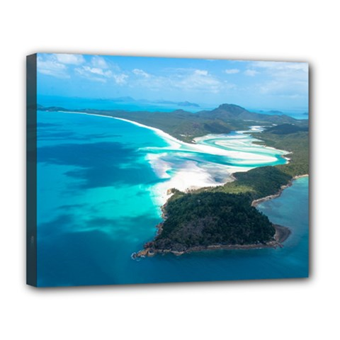 Whitehaven Beach 2 Canvas 14  X 11  by trendistuff