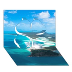 Whitehaven Beach 2 Clover 3d Greeting Card (7x5)  by trendistuff