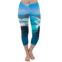 Whitehaven Beach 2 Capri Winter Leggings  by trendistuff