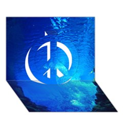 Underwater Trench Peace Sign 3d Greeting Card (7x5)  by trendistuff