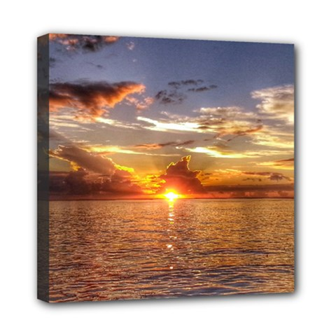 Tahitian Sunset Mini Canvas 8  X 8  by trendistuff