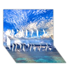 Maldives 1 You Are Invited 3d Greeting Card (7x5)  by trendistuff