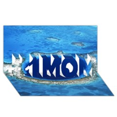 Great Blue Hole 2 #1 Mom 3d Greeting Cards (8x4)  by trendistuff