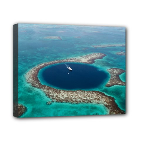 Great Blue Hole 1 Canvas 10  X 8  by trendistuff