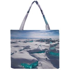 Turquoise Ice Tiny Tote Bags by trendistuff