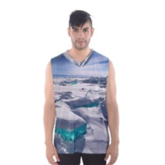Turquoise Ice Men s Basketball Tank Top by trendistuff
