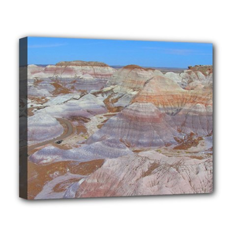 Painted Desert Deluxe Canvas 20  X 16   by trendistuff