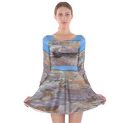 PAINTED DESERT Long Sleeve Skater Dress by trendistuff
