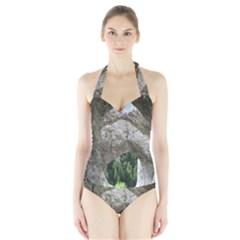 LIMESTONE FORMATIONS Women s Halter One Piece Swimsuit by trendistuff