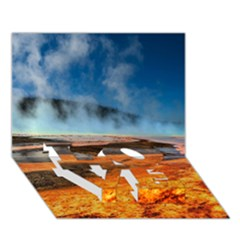 Fire River Love Bottom 3d Greeting Card (7x5)  by trendistuff