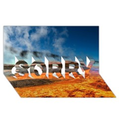 Fire River Sorry 3d Greeting Card (8x4)  by trendistuff