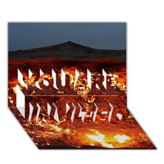 Door To Hell You Are Invited 3d Greeting Card (7x5)  by trendistuff