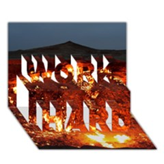 Door To Hell Work Hard 3d Greeting Card (7x5)  by trendistuff
