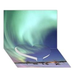Aurora Borealis Heart Bottom 3d Greeting Card (7x5)  by trendistuff