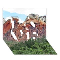 Upper Emerald Trail Love 3d Greeting Card (7x5)  by trendistuff