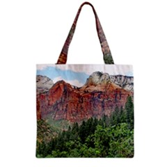 Upper Emerald Trail Grocery Tote Bags by trendistuff