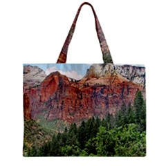 Upper Emerald Trail Tiny Tote Bags by trendistuff