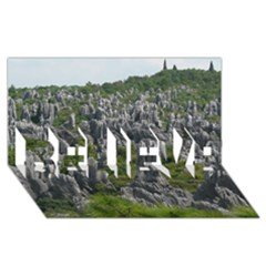 STONE FOREST 1 BELIEVE 3D Greeting Card (8x4)  by trendistuff