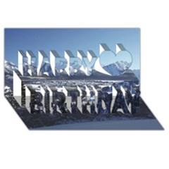 Snowy Mountains Happy Birthday 3d Greeting Card (8x4)  by trendistuff