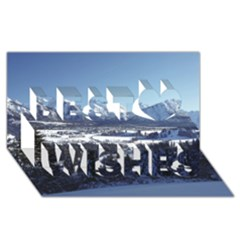 Snowy Mountains Best Wish 3d Greeting Card (8x4)  by trendistuff