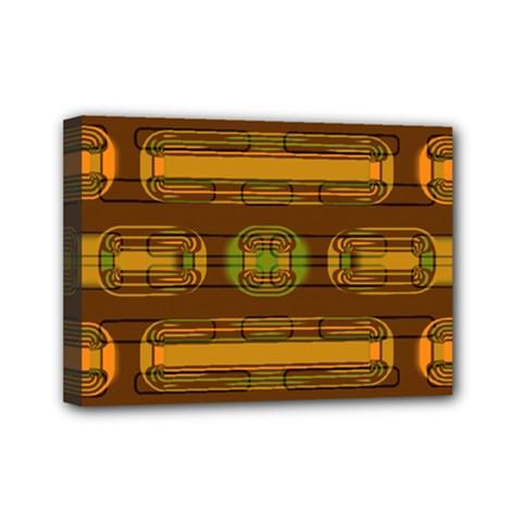 Modern Pattern Factory 01b Mini Canvas 7  X 5  by MoreColorsinLife