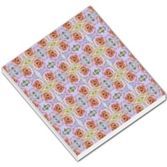 Pink Light Blue Pastel Flowers Small Memo Pads by Costasonlineshop