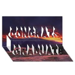 San Gabriel Mountain Sunset Congrats Graduate 3d Greeting Card (8x4)  by trendistuff