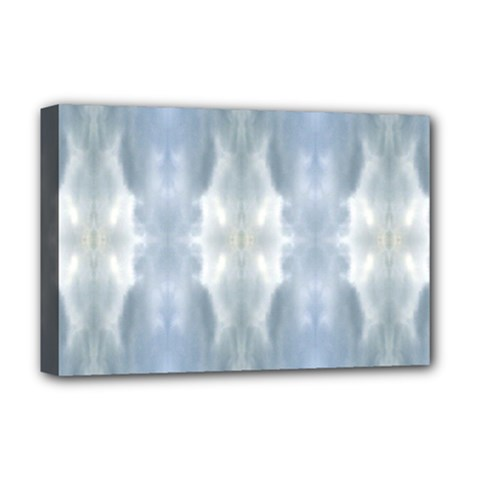 Ice Crystals Abstract Pattern Deluxe Canvas 18  X 12   by Costasonlineshop