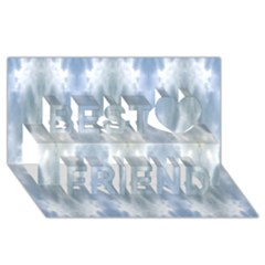 Ice Crystals Abstract Pattern Best Friends 3d Greeting Card (8x4)  by Costasonlineshop